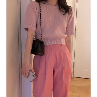 Lochie - 美品 ピンク 半袖 ニット