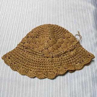 ムジルシリョウヒン(MUJI (無印良品))の無印良品 ペーパーコード 麦わら帽子 52センチ(帽子)