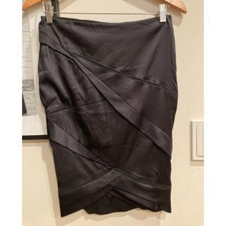 グッチ(Gucci)のグッチ シルクストレッチスカート(ひざ丈スカート)