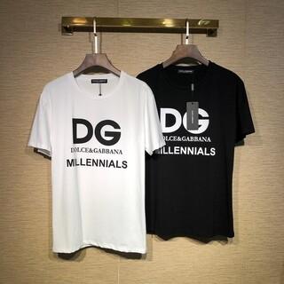 DOLCE&GABBANA - 【新品】D&G Tシャツ☆黒☆L フリー DOLCE&GABBANA