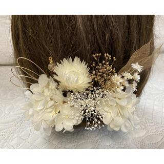 髪飾り 白金gw  R-23   ヘッドパーツ 結婚式 卒業式 成人式 七五三