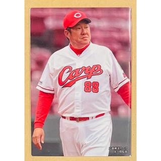 ヒロシマトウヨウカープ(広島東洋カープ)のカルビープロ野球カード2020 第2弾 C-06 佐々岡監督 広島(スポーツ選手)