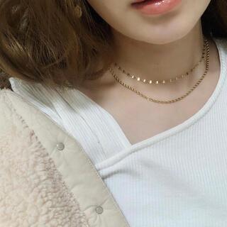 エイミーイストワール(eimy istoire)の錆びない316L♡フリルゴールドネックレス(ネックレス)