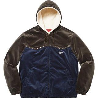 Supreme - Studded Velvet Hooded Work Jacket