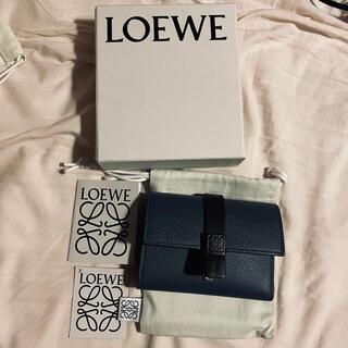 ロエベ(LOEWE)のloewe 三つ折り財布 インディゴ(財布)