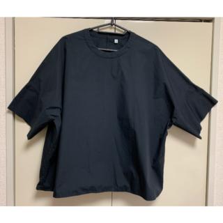 ムジルシリョウヒン(MUJI (無印良品))のMUJI Labo  半袖シャツ ネイビー  フリーサイズ (シャツ/ブラウス(半袖/袖なし))
