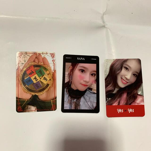 Waste(twice)(ウェストトゥワイス)のTWICE サナ 公式トレカ 3枚セット yes or yes エンタメ/ホビーのCD(K-POP/アジア)の商品写真