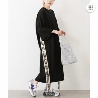 ホリデイ(holiday)のHOLIDAY SUPER FINE S/S LONG DRESS ブラック(ロングワンピース/マキシワンピース)