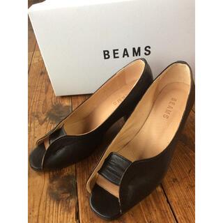 ビームス(BEAMS)の[靴底補強済み]ビームス オープントゥパンプス 黒 23(ハイヒール/パンプス)
