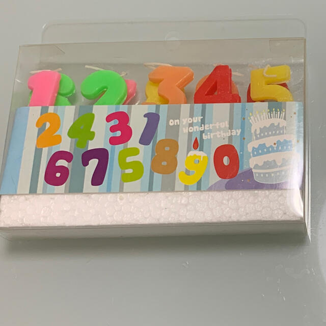 ナンバーキャンドルセット 数字キャンドル ハンドメイドのインテリア/家具(アロマ/キャンドル)の商品写真