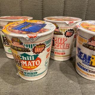 ニッシンショクヒン(日清食品)の数量限定 日清 カップヌードル スーパー合体 シリーズ 全部揃えた4個セット (インスタント食品)