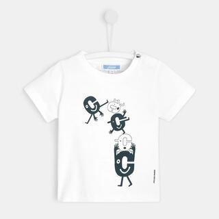 Jacadi - 良品★ジャカディの半袖Tシャツ★PIGNON★88cm★24m★ホワイト色