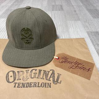 テンダーロイン(TENDERLOIN)の希少品! TENDERLOIN トラッカーキャップ ボルネオスカル オリーブ 緑(キャップ)