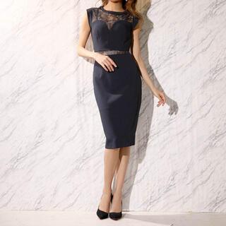 デイジーストア(dazzy store)のディジーストア レースタイト膝丈ドレス(ミディアムドレス)