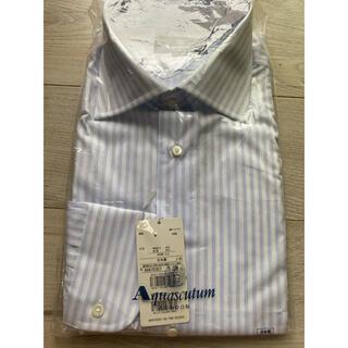 アクアスキュータム(AQUA SCUTUM)のAquascutam アクアスキュータム ワイシャツ メンズ ビジネス ブルー(シャツ)