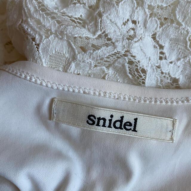 snidel(スナイデル)のsnidel オーバーオール サロペット オールインワン ホワイト レース レディースのパンツ(サロペット/オーバーオール)の商品写真