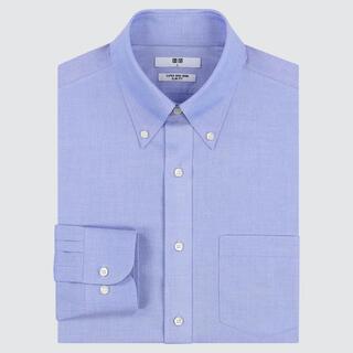 UNIQLO - スーパーノンアイロンスリムフィットシャツ(ボタンダウンカラー・長そで)