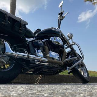 ハーレーダビッドソン(Harley Davidson)のフィッシュテールマフラー イントルーダークラシック400(パーツ)