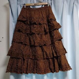 ピンクハウス(PINK HOUSE)の3257ピンクハウススカート ドット柄(ロングスカート)