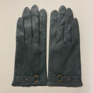 Christian Dior - 美品 クリスチャンディオール レディース レザーグローブ グレー系 革手袋