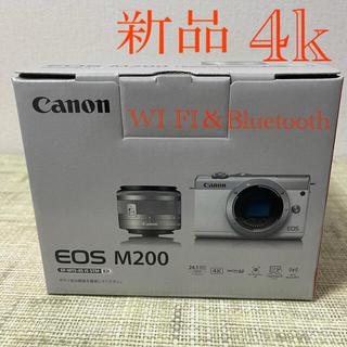 Canon - 新品Canon EOS M200レンズキットメーカー保証付き