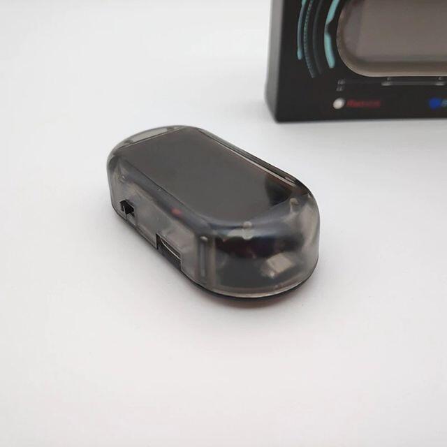 【新品送料無料】ソーラー充電式 車用ダミーセキュリティ 青色 自動車/バイクの自動車(セキュリティ)の商品写真