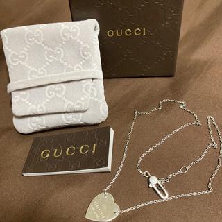 Gucci - GUCCI グッチ トレードマーク 刻印 ハートモチーフ ネックレス