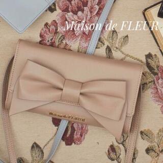 Maison de FLEUR - ♡メゾンドフルール♡ビッグリボン スマホ ウォレット お財布 ショルダー