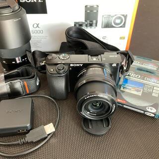 SONY - α6000ダブルズームキット ストラップ、レンズフィルターお付けします