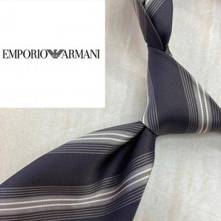 Emporio Armani - エンポリオアルマーニ イタリア製最高級シルク100%ネクタイ ブラウン