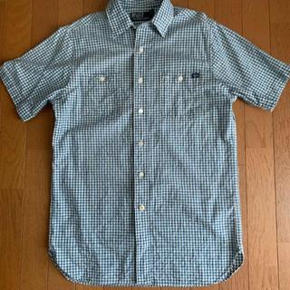 ポロラルフローレン(POLO RALPH LAUREN)のラルフローレン ギンガムチェック 青×白 半袖シャツ S(シャツ)
