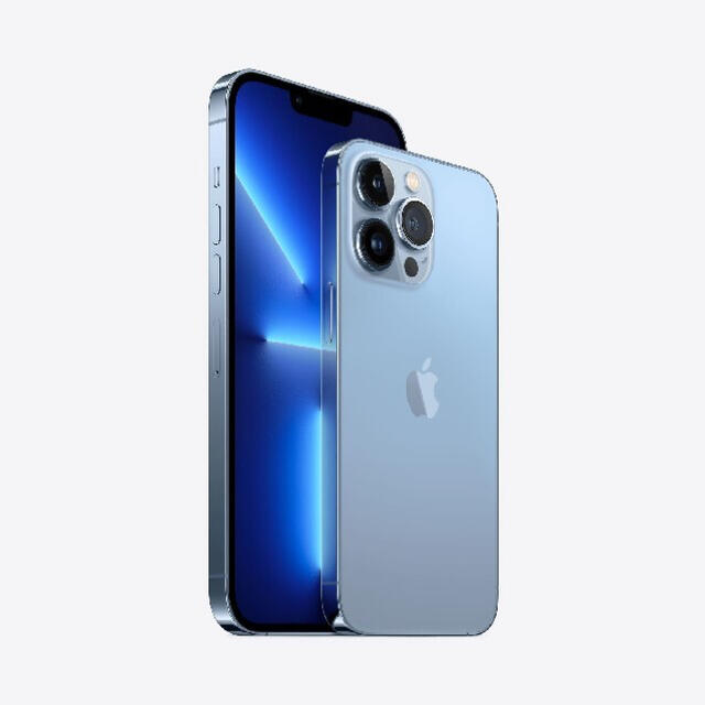 Apple(アップル)のSIMフリーiPhone 13 ProMax 256 シェラブルー スマホ/家電/カメラのスマートフォン/携帯電話(携帯電話本体)の商品写真