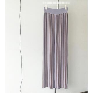 トゥデイフル(TODAYFUL)のweb完売 todayful Stripe Knit Leggings(レギンス/スパッツ)