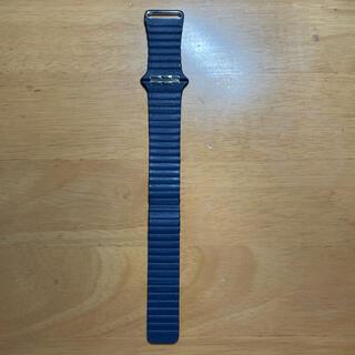 Apple Watch - 【純正】Apple Watch 6 ダイバーブルーレザーループ - M