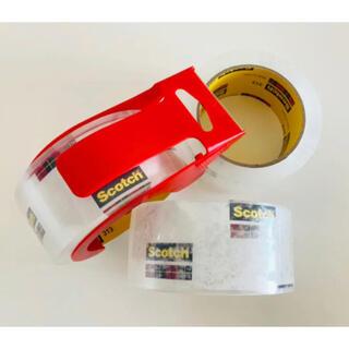 コストコ(コストコ)のScotch スコッチ・3M  カッター付き 透明梱包用テープ(テープ/マスキングテープ)