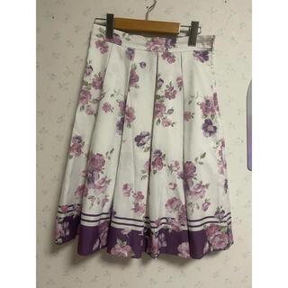ミッシュマッシュ(MISCH MASCH)のミッシュマッシュ  花柄フレアスカート ピンク(ひざ丈スカート)