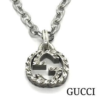 Gucci - ☆美品☆GUCCI グッチ 燻 インターロッキング GG ネックレス ペンダント