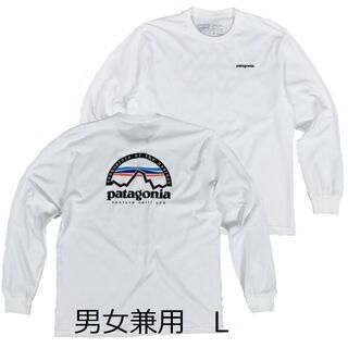 patagonia - パタゴニア 長袖 ロンT 白  L 人気デザイン アウトドア キャンプ バイク