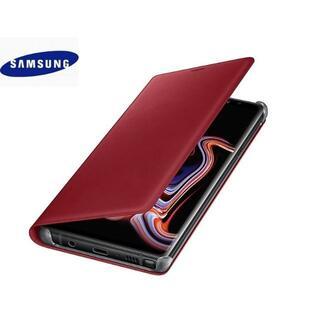SAMSUNG - Galaxy Note9 レザー カバー レッド【純正・輸入品】赤