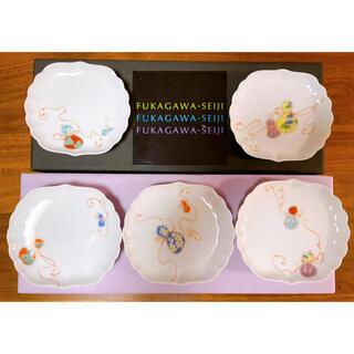 深川製磁 花ひょうたん 小皿