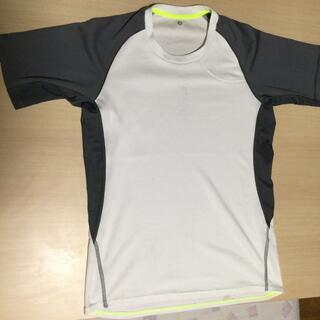 GU - Tシャツ スポーツ トレーニング ジーユー GU 速乾 メンズS 白