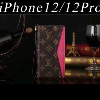iPhone - 新品 iPhone12 12pro ケース カバー ピンク 手帳 未使用 カード