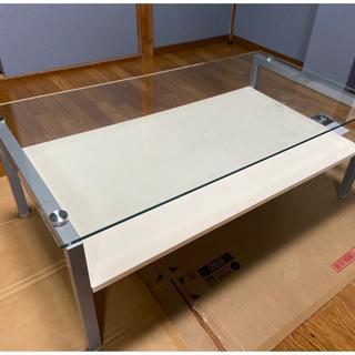 ニトリ - 《値下げしました!》ニトリ ガラスセンターテーブル ホワイト