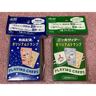 アサヒ(アサヒ)のアサヒ飲料 三ツ矢サイダー・カルピス オリジナルトランプ カードゲーム(トランプ/UNO)