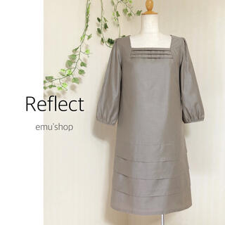 ReFLEcT - リフレクト ◆ スクエアネックワンピース ◆ 日本製