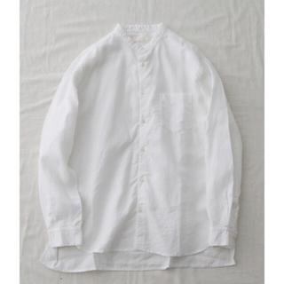 COMOLI - CONFECT コンフェクト ハイカウントリネン バンドカラーシャツ ホワイト