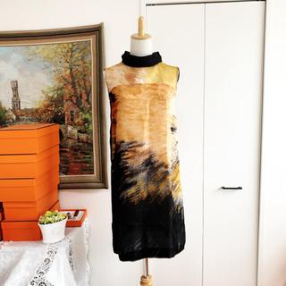 FENDI - 未使用 FENDI フェンディ   オーガンジー シルク ワンピース ドレス