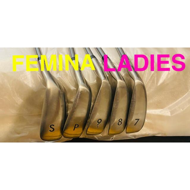 ヤマハ(ヤマハ)の【YAMAHA  FEMINA】レディース アイアンセット flex  L スポーツ/アウトドアのゴルフ(クラブ)の商品写真