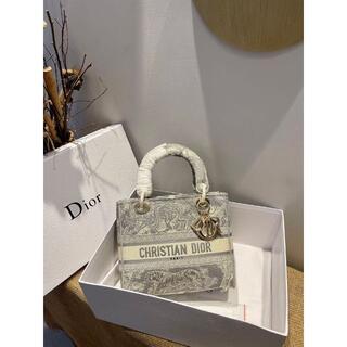 クリスチャンディオール(Christian Dior)の【美品】LADY D-LITE ミディアムバッグ(トートバッグ)