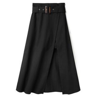 GRL - GRL ベルト付きレイヤード風スリットスカート